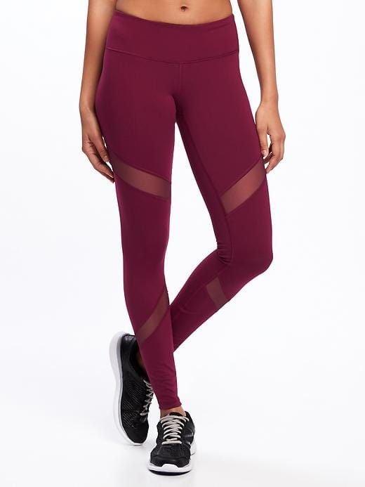 mesh pattern leggings