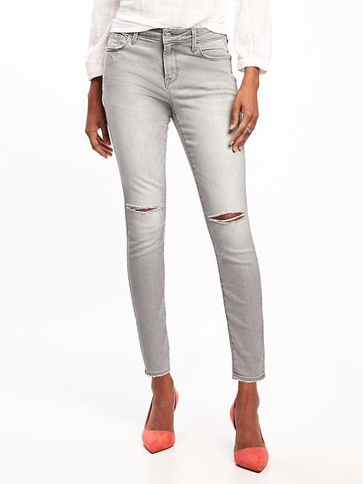 mid rise distressed jean